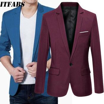 2019 New Korean Men Blazer Casual Slim Fit Office Suit Autumn Winter Jacket Coat Formal Masculina Blazer Men's Business Blazers