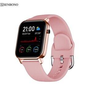 Image 1 - SENBONO 2020 SN87 Smartwatch IP68 su geçirmez akıllı saat erkekler kadınlar spor kalp hızı kan oksijen monitörü saat PK P8 B57
