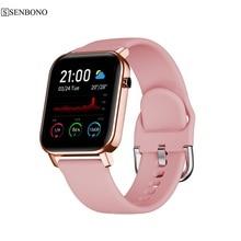 SENBONO 2020 SN87 Smartwatch IP68 مقاوم للماء ساعة ذكية الرجال النساء الرياضة معدل ضربات القلب شاشة رصد أكسجين الدم ساعة PK P8 B57