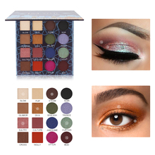 IMAGIC Shimmer Matte Eyeshadow Palette 16Colors Professional Natural Eye Shadow Waterproof Makeup Pigments Pressed Cosmetics