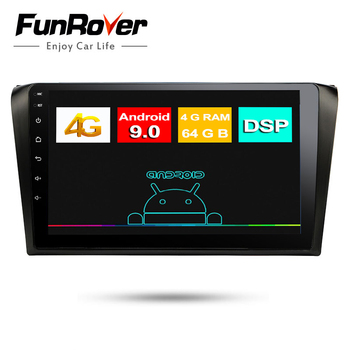 Funrover IPS Octa 8 Core Car DVD Player for Mazda 3 2006 2007 2008 9 inch Android 9.0 4G RAM 64G ROM Radio GPS Navigation dsp bt