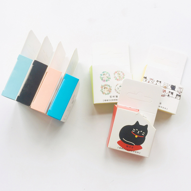 Cute Kawaii Adorable Cat Adhesive Paper Washi Tape Masking Tape DIY Scrapbooking Stick Label 2