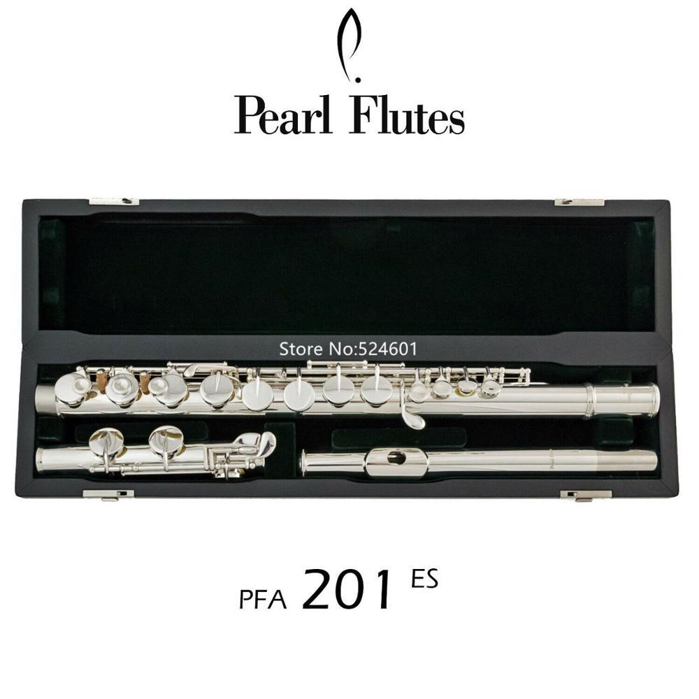 Perle populaire Alto flûte PFA-201ES tête droite 16 clés trou fermé Nickel argent G Tune instrument de musique avec étui