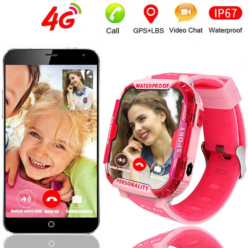 LIGE 2020 Детские умные часы es с видеозвоном Детские умные часы gps отслеживание местоположения Поддержка 2G/3g/4G sim-карты SOS умные часы