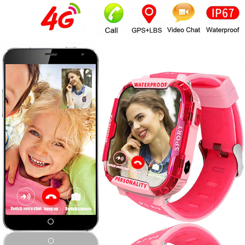 LIGE 4G ساعة ذكية للأطفال لتحديد المواقع تعقب واي فاي اتصال مكالمة فيديو SOS زر واحد مساعدة ساعة ذكية للطفل صبي فتاة