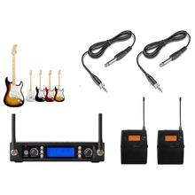 Dual Wireless Instrument Microphone for Wireless Guitar System