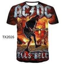 Neue Stil t-shirt Lustige Freizeit T-shirt T-shirts Männer AC DC 3D Gedruckt Sommer Marke T-shirt männer mode