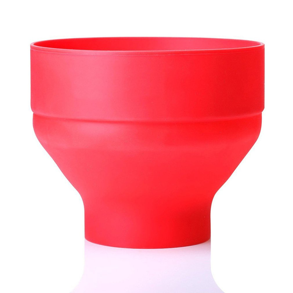 Silicone Popcorn Bowl Microwave Oven Folded Popcorn Bucket Creative High Temperature Resistant Large Covered Silicone Bucket