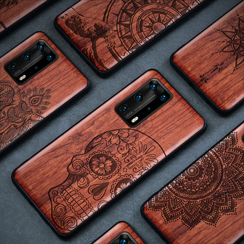 Real Wood P30 Lite Case For Huawei P40 Pro Case Wood P20 Lite Cover TPU Coque For Huawei P20 Pro P30 Pro P40 Pro Funda P40 Case фото