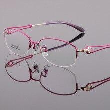 Новая высококачественная Женская стильная оправа для очков из чистого титана ультралегкие корректирующие очки при близорукости Monturas De Lentes Mujer