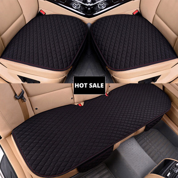 AUTOYOUTH Car Seat Covers Front/ Rear/ Full Set Choose Car Seat Cushion Linen Fabric Car Accessories Universal Size Anti-slip