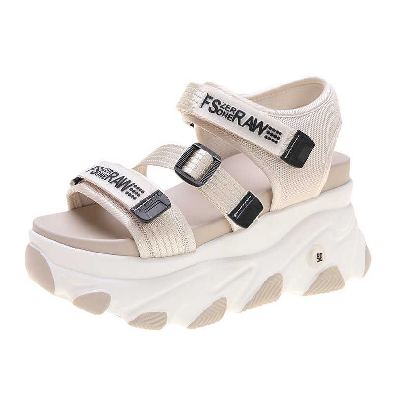 2020 נשים שמנמן סנדלי מעצבי נעליים יומיומיות ספורט 9cm עקבים גבוהים טריז סנדל מותג אופנה תמציתי פלטפורמת סנדל אישה