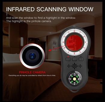 Anti - Spy Detector Wireless Camera Lens Hidden Signal Device Finder Privacy Protect Security Mini Travel Shock Sensor Anti-Thef 3