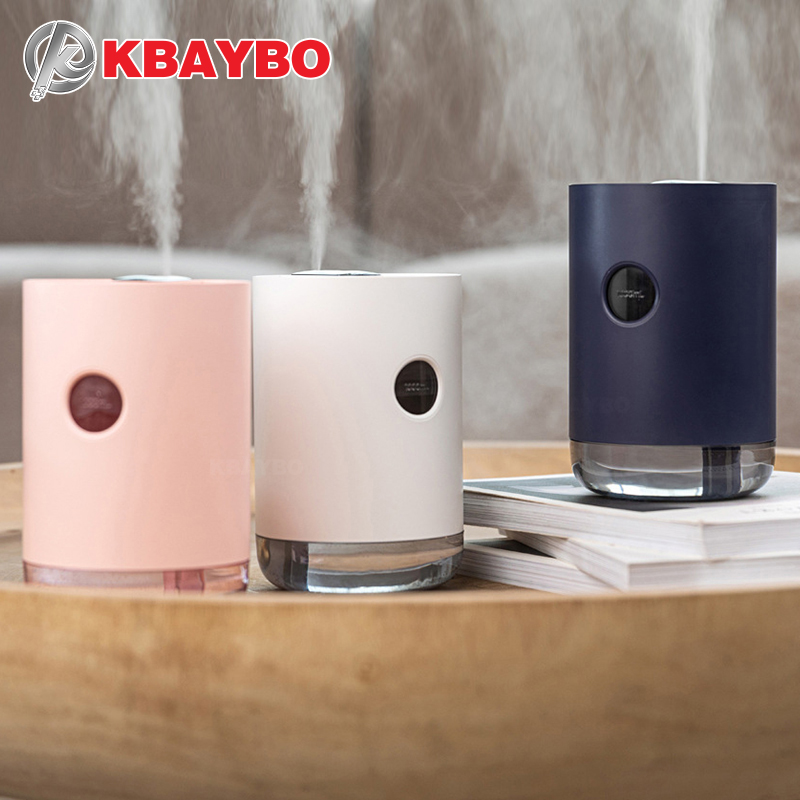 KBAYBO 1000ml USB Aromatherapy Essential Oil Diffuser Home Charged Air Purifier Humidifier With 7 Colors LED Lights