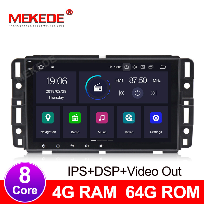 Reprodutor multimídia carro Android 9.0 4 + 64G IPS DSP Car GPS radio player Para GMC/Yukon/ savana/Sierra/Tahoe/Acadia/Chevrolet/Express