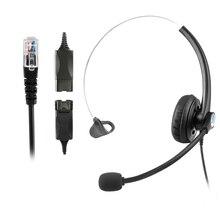 A16MP QD RJ9 Mono zestaw słuchawkowy Center Call Office słuchawki z mikrofonem redukcja szumów słuchawki obsługa klienta słuchawki douszne
