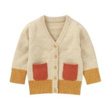 Baby Boy Girl sweter dzieci dzieci bluza jesień odzież dla niemowląt sweter z dzianiny bawełna codzienna odzież wierzchnia odzież tanie tanio Na co dzień NYLON Akrylowe 13-24m 25-36m CN (pochodzenie) Unisex Pełna REGULAR Pasuje prawda na wymiar weź swój normalny rozmiar