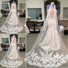 SERMENT New Lace Edge Waltz Veil One-Layer Three Meters and Rows of Wedding Accessories