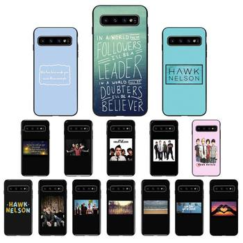 FHNBLJ Hawk Nelson songs lyrics Silicone Black Phone Case for Samsung Galaxy S6 S6edge Plus S7 S7edge S8 S9 S10 Plus S20 image
