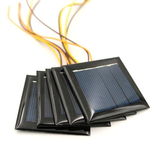 5 adet/grup 2V 100mA 15cm tel uzatın GÜNEŞ PANELI güneş hücreleri epoksi polikristal silikon DIY pil güç şarj modülü