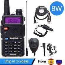 Baofeng UV 5R 8 W wysokiej mocy 8 watów potężny walkie talkie daleki zasięg 10km VHF/UHF dwuzakresowy radiotelefon pofung uv5r polowanie