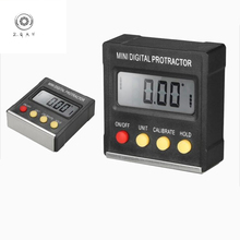 360 Degree Mini Protractor Electronic Digital Display Magnetic Base Tilt Meter Measurement tool electronic goniometer merchandise display base 360 degree electric rotary table display for photography 25cm automatic revolving platform handicraft