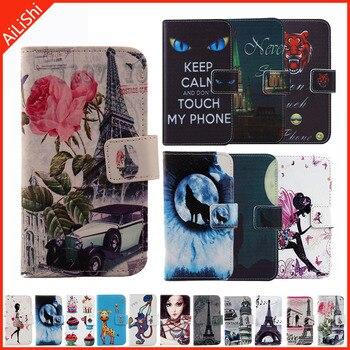 Перейти на Алиэкспресс и купить Чехлы, кожаный чехол-книжка с кошельком, чехол-книжка для Vertex Pro P300 LG Neon Plus BQ, чехол-бумажник с бархатным рисунком, чехол-накладка для телефона...