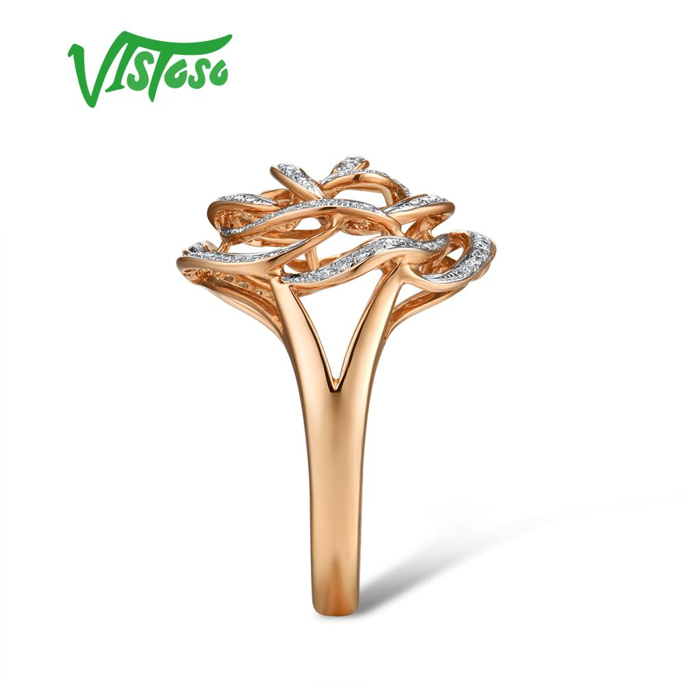 Promote¶VISTOSO Gold Rings Engagement-Rings Fine-Jewelry Diamond Promise Anniversary Women Genuine