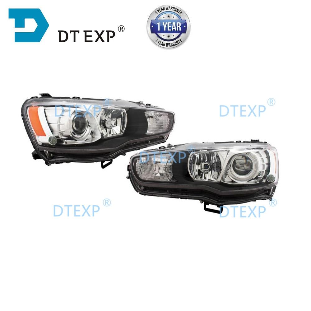 NO BULBS Xenon Headlight For Lancer Ex FT 2007-2019 Front HID Headlight For Evo 10 Head Lamp Front Lamp For Lancer Gt No Ballast