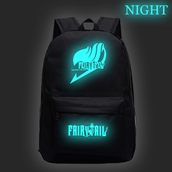 Anime Fairy Tail Students Backpacks Boys Girls Luminous Backpack Galaxy Teenagers Back Pack Travel Bagpack Ladies Schoolbags anime harajuku fairy tail star magic guild logo shoulder zipper bag men schoolbags naz rucksack
