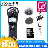 Grabadora de voz Digital H1N con Zoom Original, micrófono de Audio estéreo portátil para entrevista, con tarjeta SD de 16GB