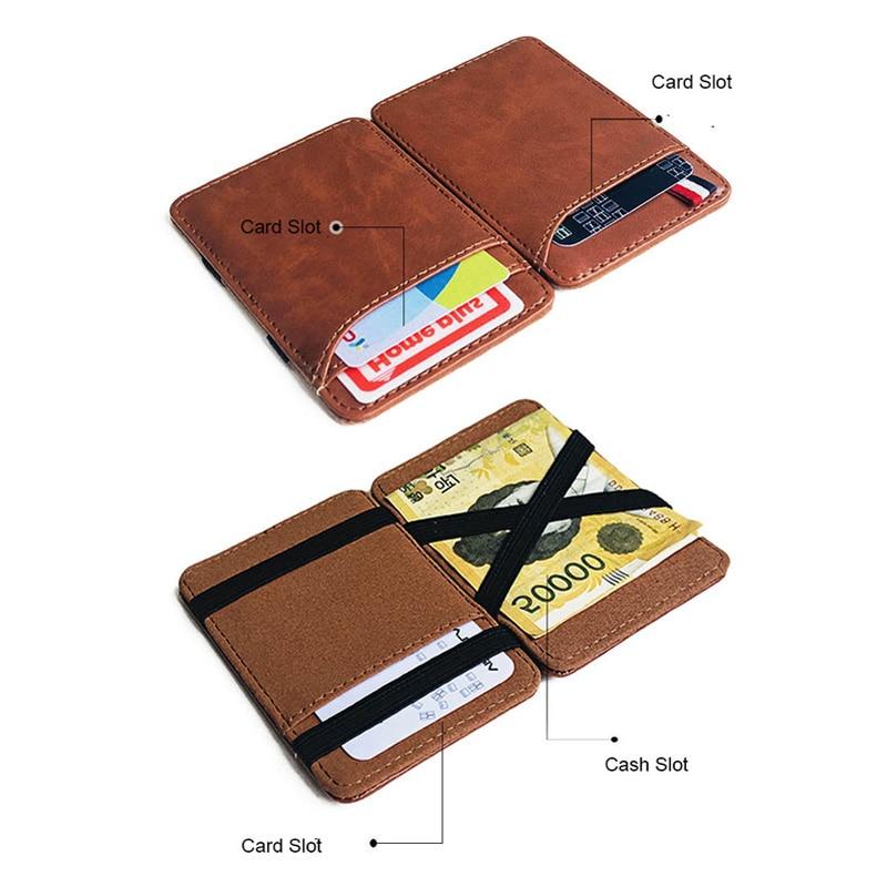 Retro Classic Soviet Union Scythe Hammer CCCP leather magic wallets Fashion men money clips card purse cash holder