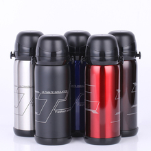 800ML Thermos Stainless Steel Insulation Pot Portable Travel Kettle Tea Vacuum Bottle Outdoor Sports Vacuum Flask Double Lid Cup stainless steel cup vacuum mixer outdoor drink 26oz kettle detachable whey protein powder outdoor portable sports shake bottle
