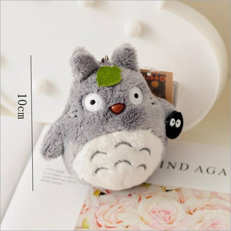 Mini 10cm My Neighbor Totoro Plush Toy Kawaii Anime Totoro Keychain Toy , Stuffed Plush Totoro Doll,gift for Kids Dropshipping