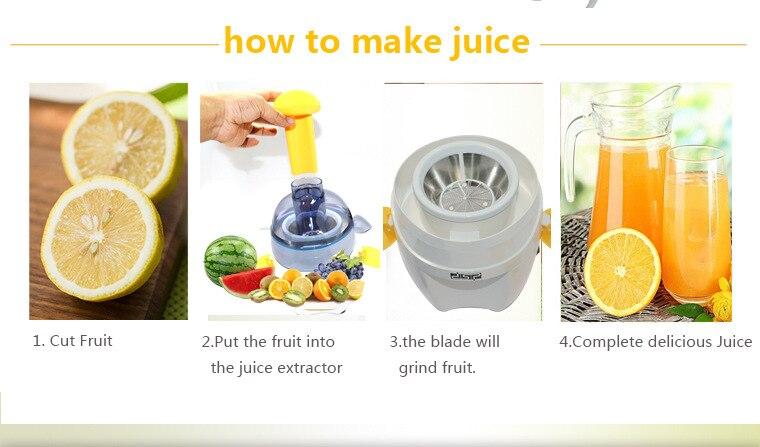 Imprensa elétrica do suco de laranja do
