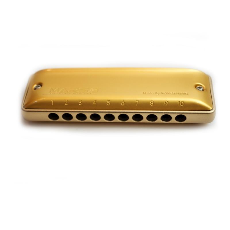 Kongsheng MarsM2 Golden Aluminum Comb Harmonica