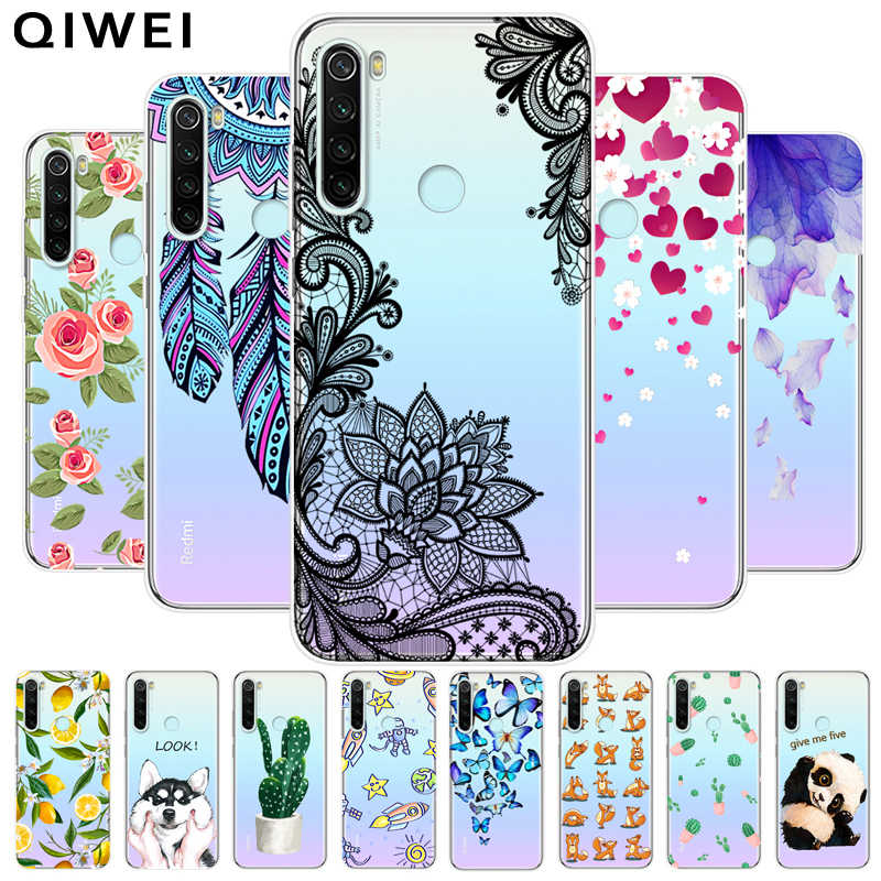 For Xiaomi Redmi Note 8T Case Transparent Clear Cute Cartoon Soft TPU silicon Phone Cover For Redmi Note 8 Pro Note8t 8 t Note8