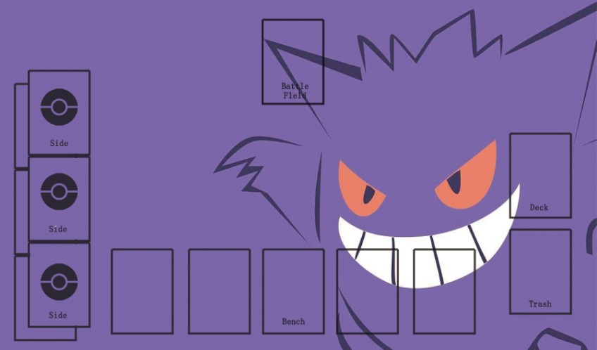 Takara Tomy PTCG Accessories Pokemon Card Board Game Playmate Gengar Toys For Children