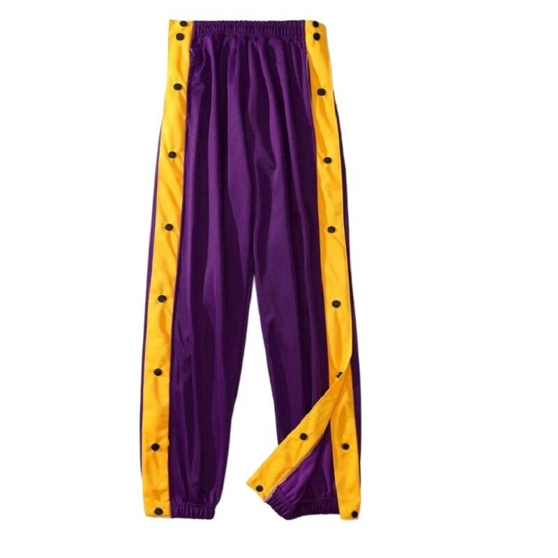 Спортивные брюки Для Мужчин's баскетбольные тренировочные полного открытия на пуговицах, свободные детские штаны размера плюс открывающий...