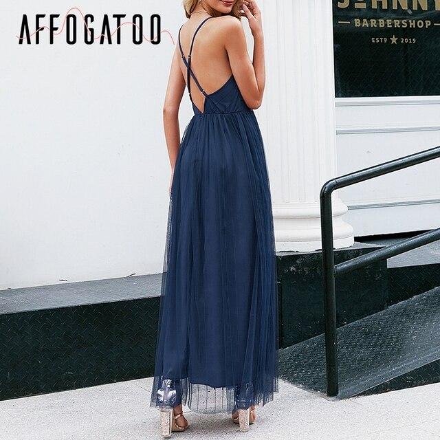 Affogatoo Sexy deep v neck backless summer pink dress women Elegant lace evening maxi dress Holiday long party dress ladies 2019 5