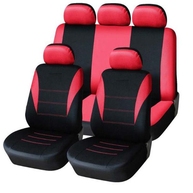 Auto-Time Brand Car Seat Covers Set Universal Fit Most Cars Covers With Line Track Detail Styling Auto Car Seat Protector