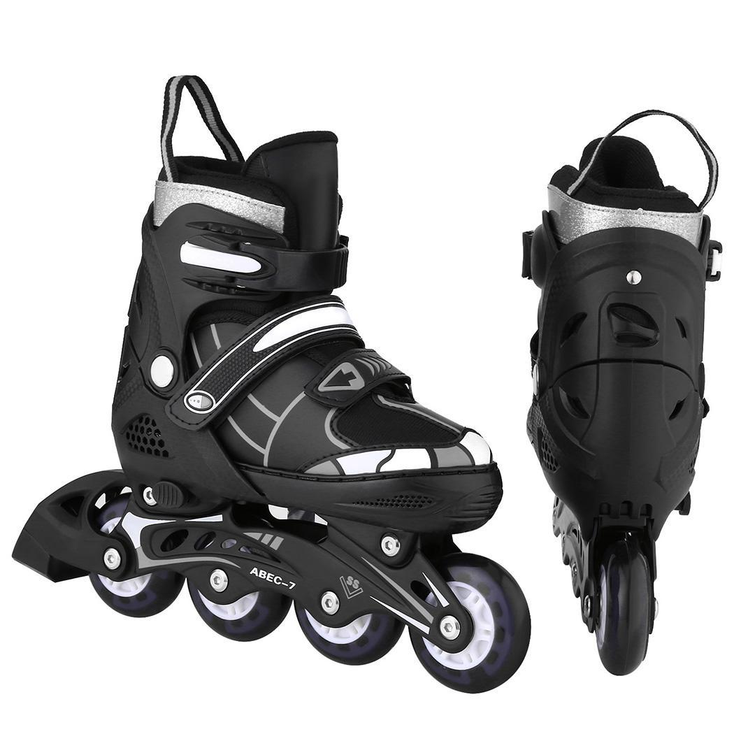 Unisex Indoor Outdoor Roller Children Tracer 35~38 Pair Of Adjustable Flash Wheel Inline 39~42 Skate 31~34
