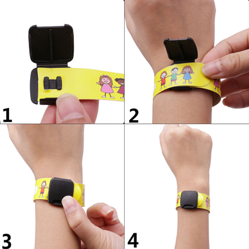 4Pcs New Adjustable ID Safety Bracelet For Kid Outdoor Activity Writing Reusable