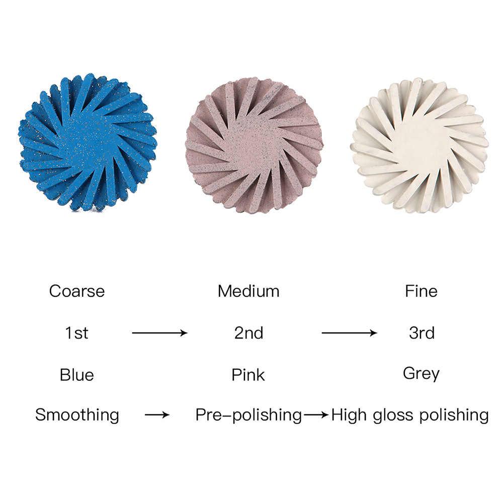 6 ชิ้น/เซ็ตทันตกรรมเรซินคอมโพสิตแผ่นขัดชุด SPIRAL Flex แปรง Burs เพชรระบบ RA DISC 14 มม