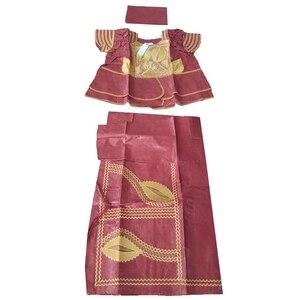 Image 4 - MD アフリカの伝統的な服スーツ刺繍 dashiki バザンリッシュスカートセット 2019 南アフリカ服トップス