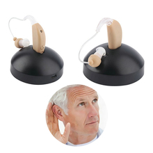 Mini Size Hearing Aids Rechargeable Plastic Hearing Aid Sound Voice Amplifier Suit for Elderly Hearing Loss programming itc hearing aid multi core digital bionic technology hearing aids sound voice amplifier can answer telephone s 16a