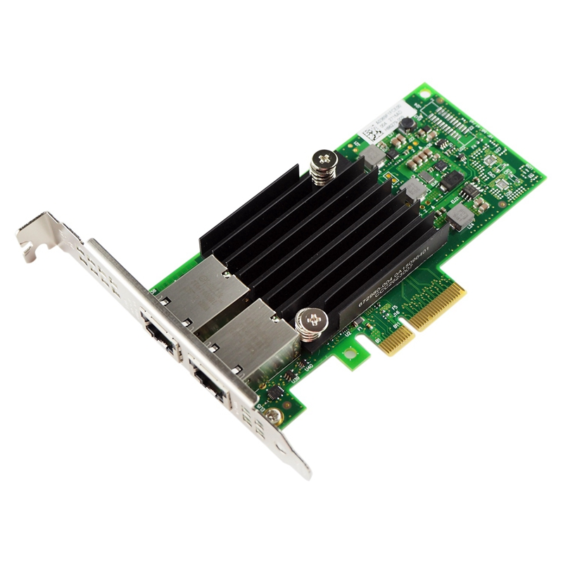 PPYY NEW -10Gb PCI-E NIC Network Card, For X550-T2 With Intel ELX550AT2 Chip, Dual Copper RJ45 Port, PCI Express Ethernet LAN Ad
