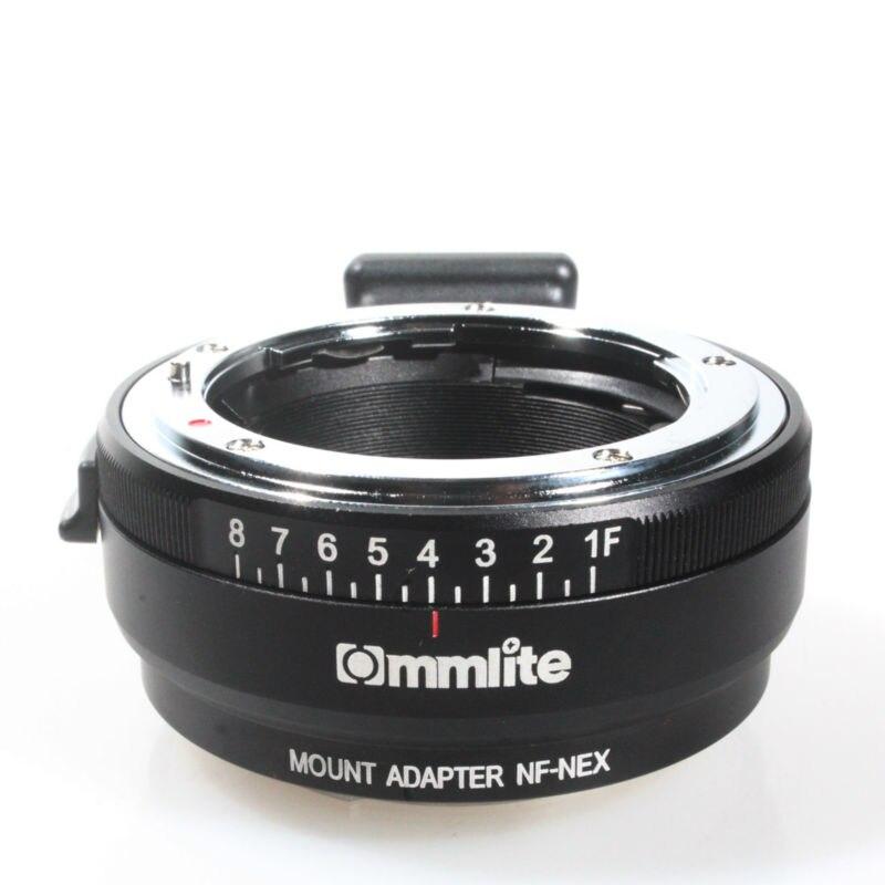 Adaptateur de monture d'objectif avec cadran d'ouverture pour Nikon G, DX, F, AI, S, D type objectif à Sony e-mount NEX caméra Nikon g-nex adaptateur d'appareil-photo