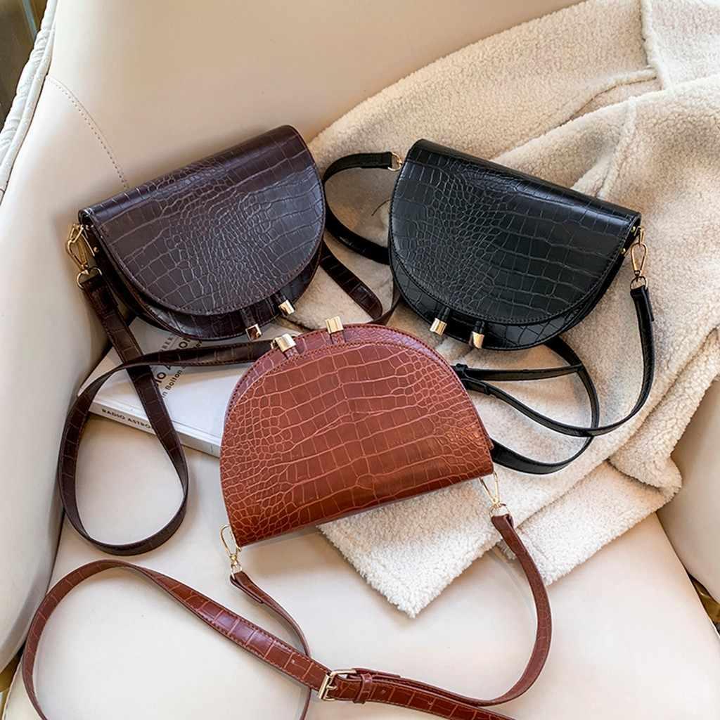 السيدات حقائب كروسبودي للنساء التمساح 2019 موضة جديدة أفخم حقيبة عادية البرية بسيطة الكتف حقيبة ساعي bolso hombre