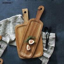 Кухонная дубовая хлебная доска для фруктов пиццы деревянный